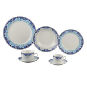 AP JANTAR 42PC PORCELANA SUPER WHITE PERCA WOLFF ROJEMAC 1