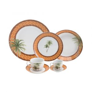 AP JANTAR 42PC PORCELANA SUPER WHITE PALM WOLFF ROJEMAC 1