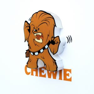 Mini Luminária 3D Light FX Star Wars Chewie 1