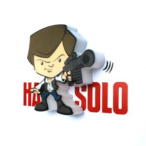 Mini Luminária 3D Light FX Star Wars Han Solo 1