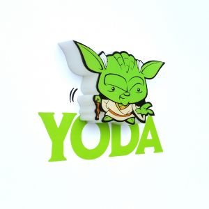 Mini Luminária 3D Light FX Star Wars Yoda 1