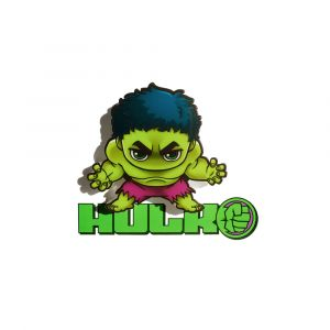 Mini Luminária 3D Light FX Hulk 1