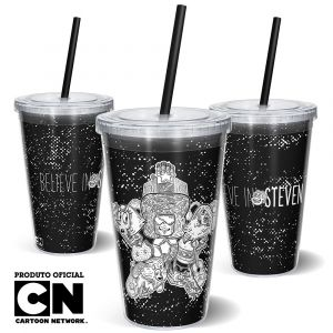 Copo Canudo 600ml Cartoon Network OFF Believe in Steven 1