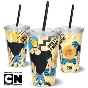 Copo Canudo 600ml Cartoon Network JOHNNY BRAVO PRETTY - Beek 1